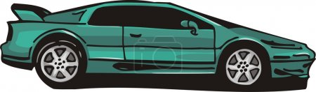 Illustration for Vector illustration of Sport car - Royalty Free Image