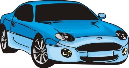 Illustration pour Illustration vectorielle de la voiture Sport - image libre de droit