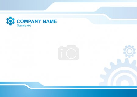 Illustration for Abstract vector corporate background with gears - Royalty Free Image