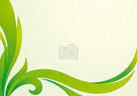 Floral green vector background