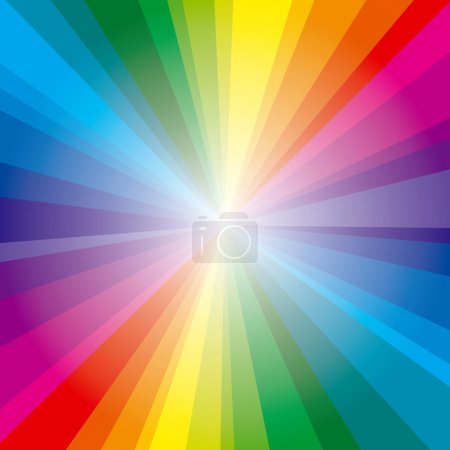 Spectrum rays background