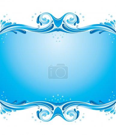 Symmetric water splashes background