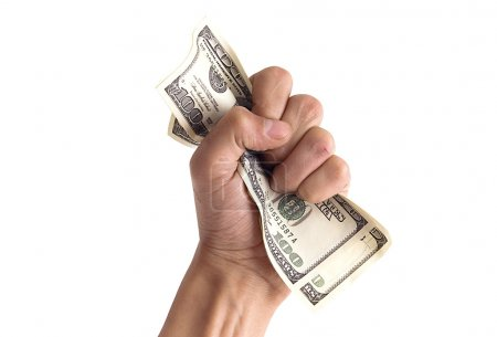 Financial concept - hand with money