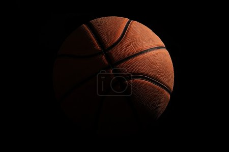Photo for High detailed basketball on black background - Royalty Free Image