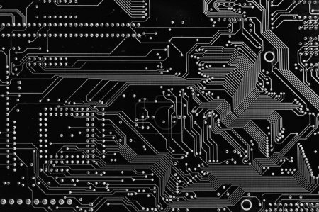 Photo for Close up of Computer Circuit Board - Royalty Free Image