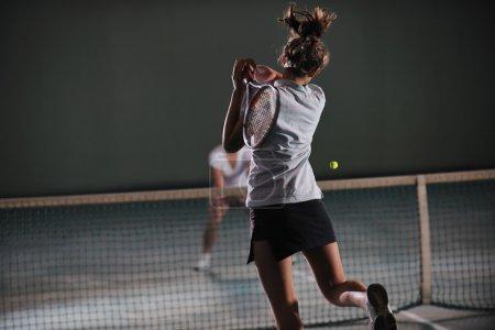 Tennis game, Two girls