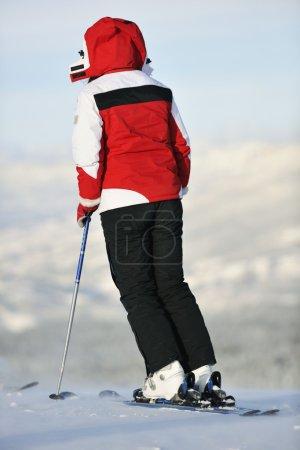 Winter ski  on winter mountain