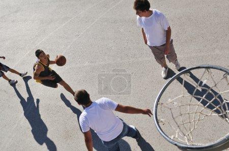 Street basketball, playing basketball outdoor