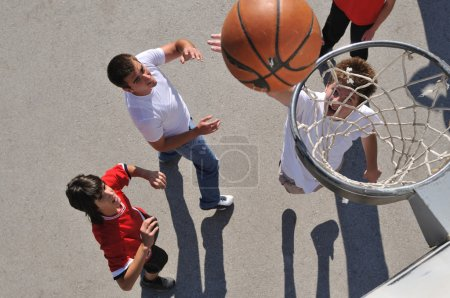 Street basketball, playing basketball outdoor