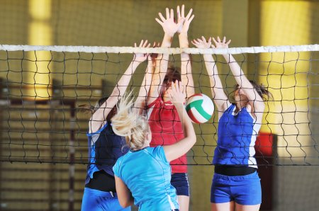 Volleyball sport , girls playing