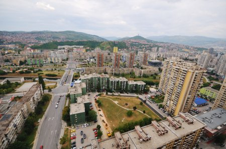 Sarajevo cityscape arial