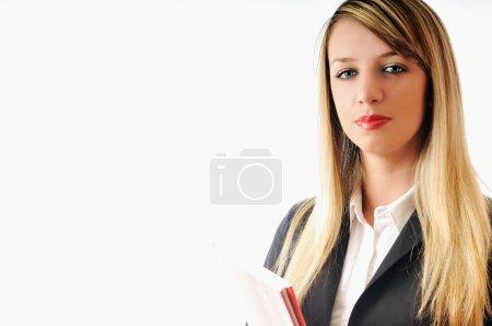Businesswoman whit pen