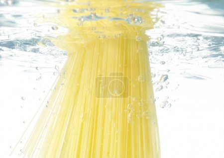 Pasta cooking in water