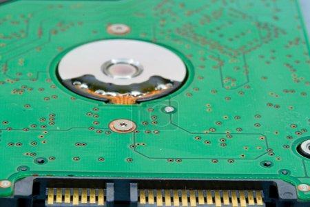 Photo for Close-up modern sata hard drive circuit board - Royalty Free Image