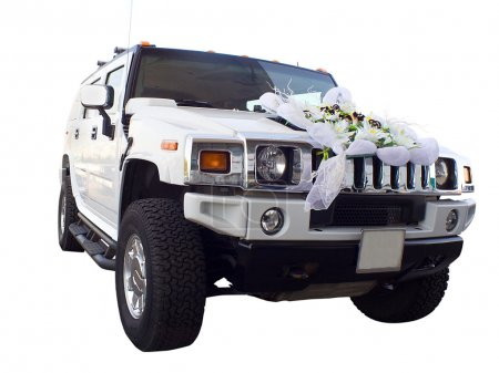 Off-highway car as wedding limousine
