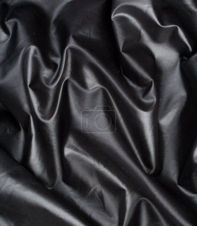 Black satin with fold
