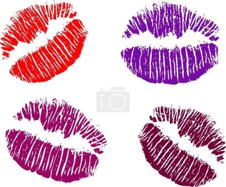 Four color lipsticks illustration
