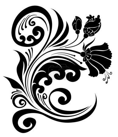Illustration for Flower branch - Royalty Free Image