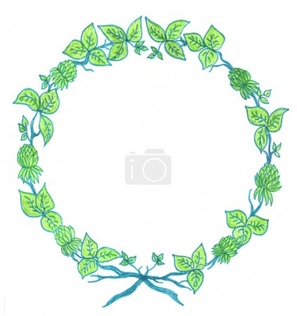 Green floral wreath