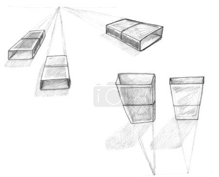 objekt vue titte grafiske illustration udkast