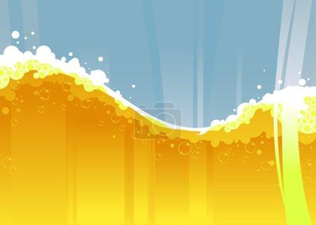 Illustration for Beer background - Royalty Free Image
