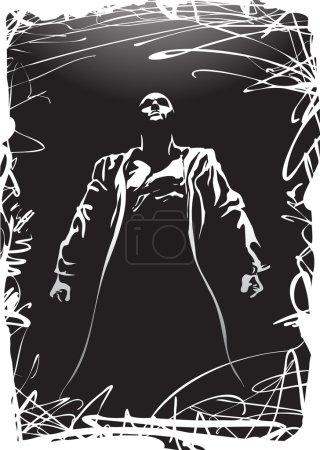 Vector shadow man