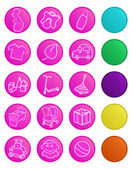 Vector icons for baby shop Icons with bottom layer variants