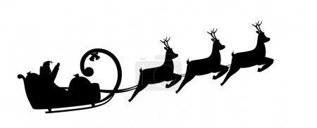Silhouette Santa Claus