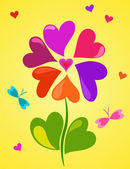 Floral composition of hearts