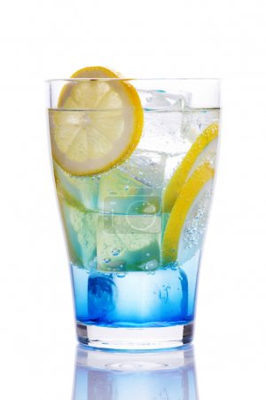 Drink with blue curacao