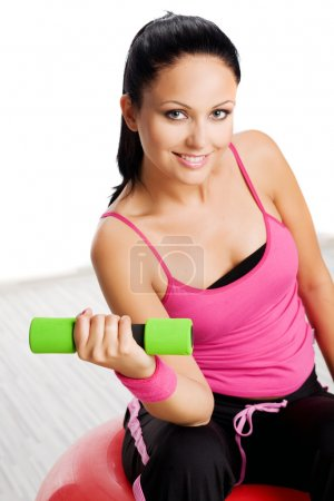 Woman during fitness exercise