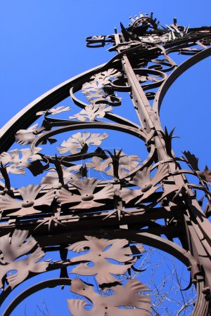 Photo for Ornate Detail of a lamp-post, Barcelona - Royalty Free Image