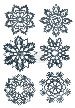 Hand made snowflakes