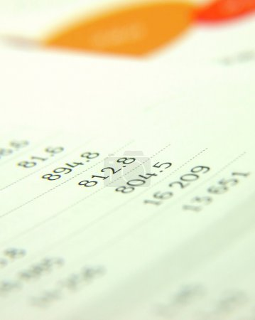 Photo for Finances statement with numbers - Royalty Free Image