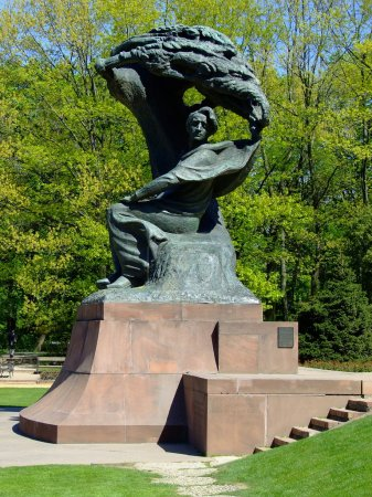 Photo for Frederick Chopin monument in Warsaw, Poland - Royalty Free Image