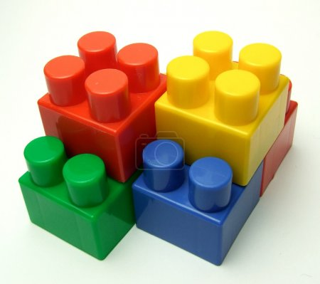 Photo for Building plastic blocks - Royalty Free Image