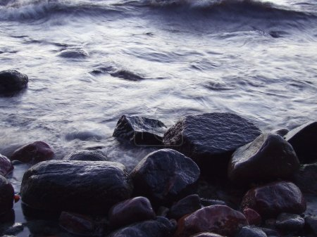 Photo for Rock boulders in water - Royalty Free Image
