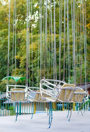 Photo for Carousel at an amusement park - Royalty Free Image