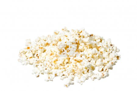 Photo pour Gros plan de pop-corn sur fond blanc - image libre de droit