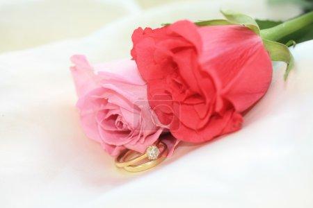 jeu de mariage et de roses