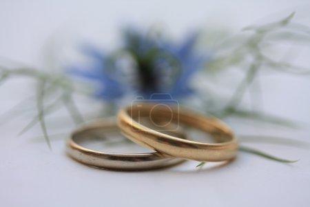 Olden bridal set and blue love in mist