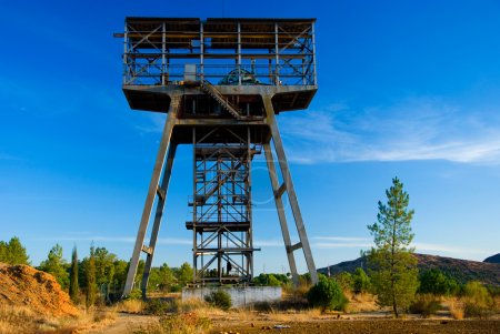 Old mine tower in Spain.