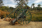 Old wooden cart - wheel