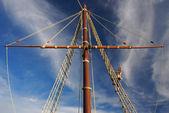 Sailor, Columbus, ship detail.