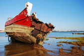 Ship wreck in port Spain.