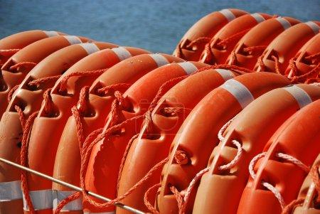 Photo pour Mesures de sécurité à bord des bateaux espagnols - image libre de droit