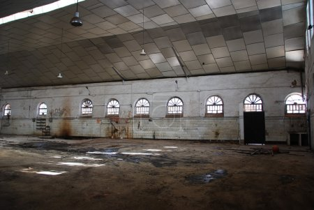 Abandoned empty warehouse.