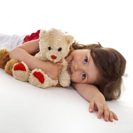 Favorite teddy bear of little girl