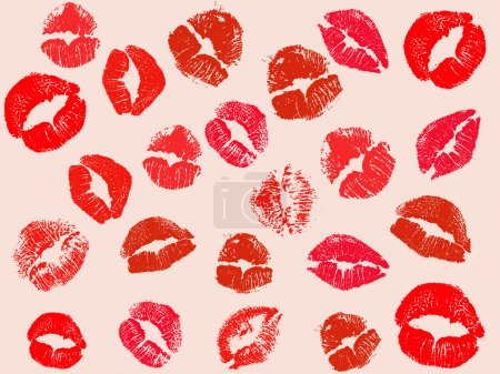 Vector kiss background...