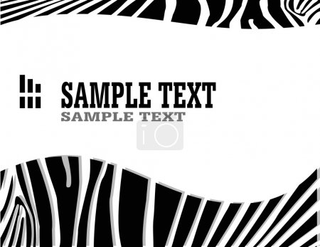 Illustration for Vecror zebra abstract background with text - Royalty Free Image